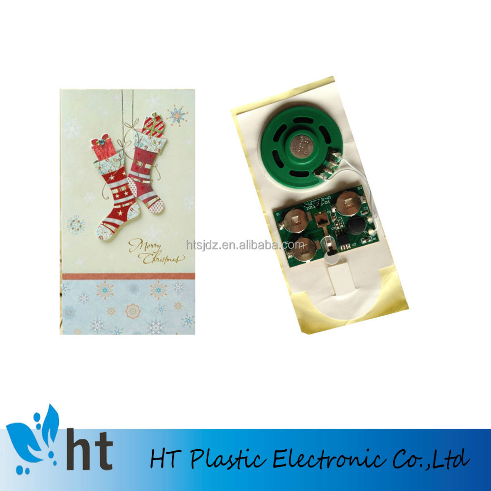 greeting card recordable sound module/programmable music chip for cards