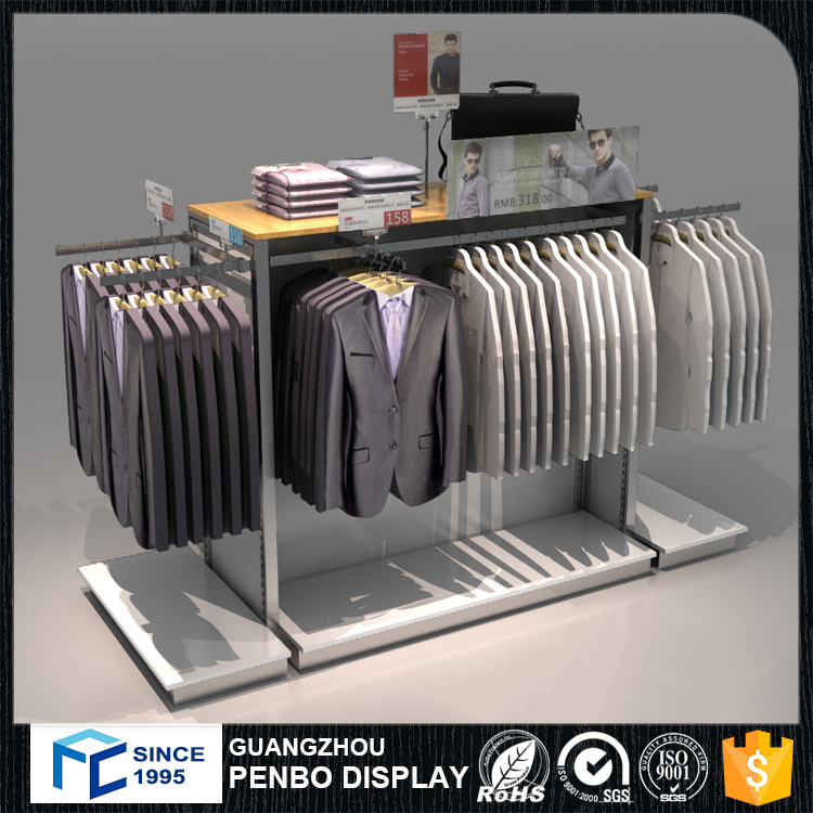 Stainless Steel Clothes Frame Hanging Bag Display Stand