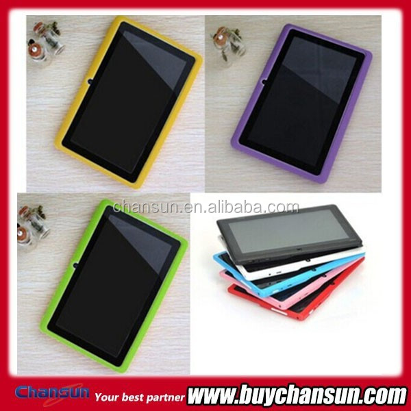 "2015 Chansun very cheap 7"" tablet silicon case cover for Q88"