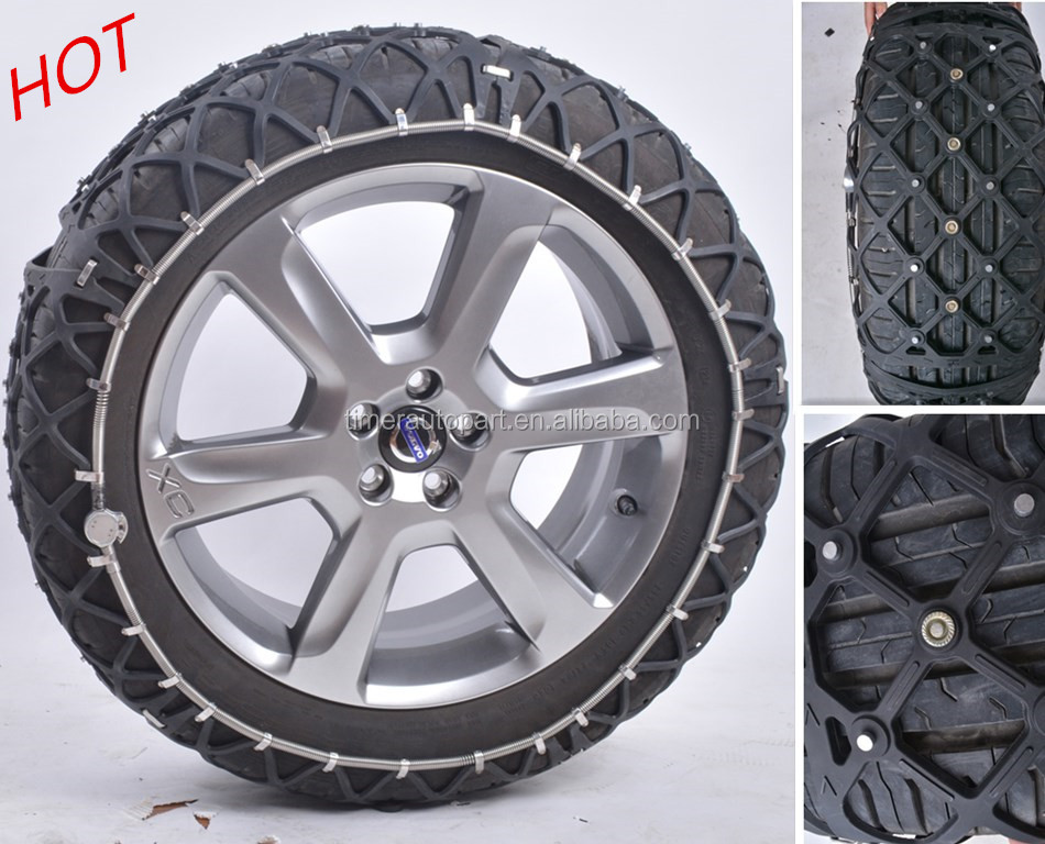 Automatic plastic snow chains quick mounting