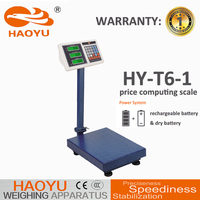 china HAOYU dry battery 4 feet digital standing scale