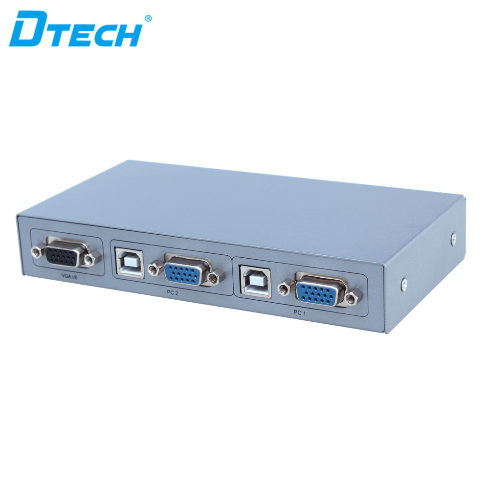 DTECH Semi-automatic KVM switches <strong>2</strong> <strong>x</strong> <strong>1</strong> 2048 *x1536 Full HD 1080p 500m switch