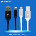 New Quick Charge Soft TPE Data Line with Metal Plug for iPhone Android Type C USB Charger Cable