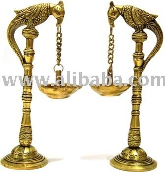 Parrot Hanging Diya (Oil Lamp)