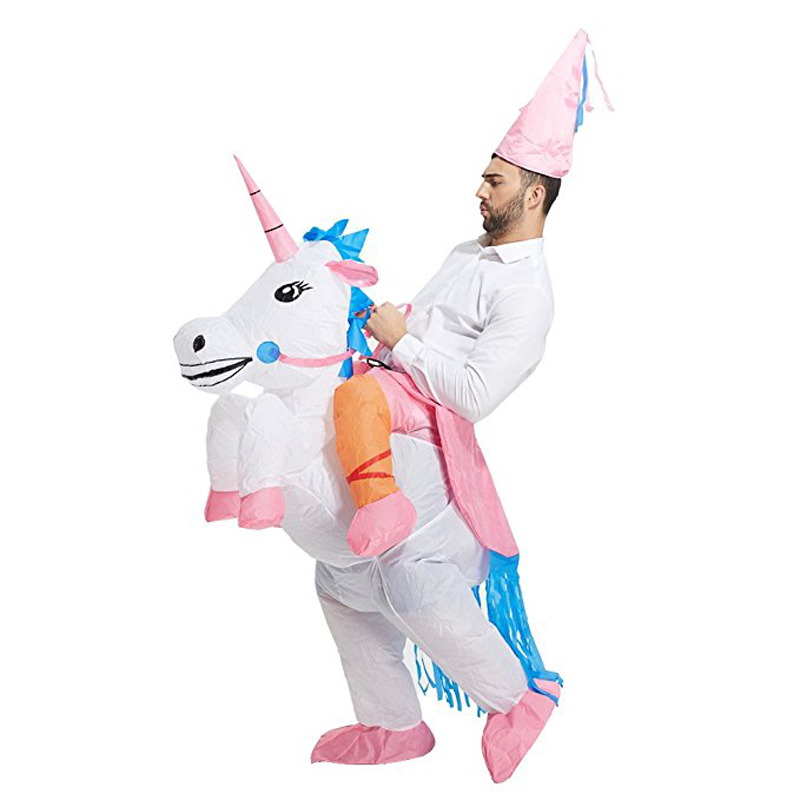 Funny Fashion Popular Inflatable Unicorn Rider Halloween Costume for adult