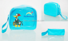 nice designed clear PVC bag with handle for promotion