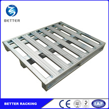 Warehouse Storage Heavy Duty Stackable Galvaznied Steel Pallet for Cold Storage