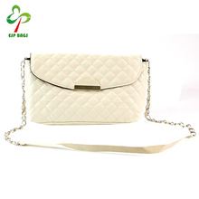 Factory price latest fashion ladies diamond pattern blank bags clutch purse, women dinner shoulder bag quilting handbag