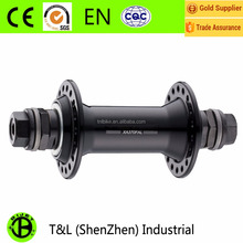 Aluminum alloy front and rear bicycle hubs