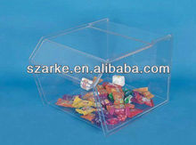 clear acrylic/plastic candy container for retail store
