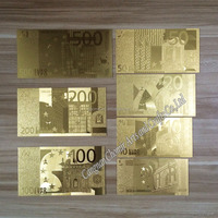 Business gift special gold plated gift 24k gold foil banknote