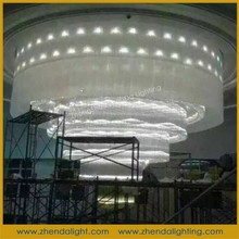 modern designs chandelier corridor cystal ceiling mounted lamp decorate for Hotel lobby