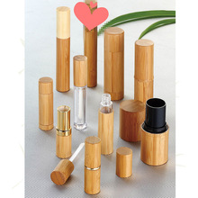 wholesale cosmetic lipstick tube packaging,natural bamboo lipstick tube,custom empty wooden lipstick container