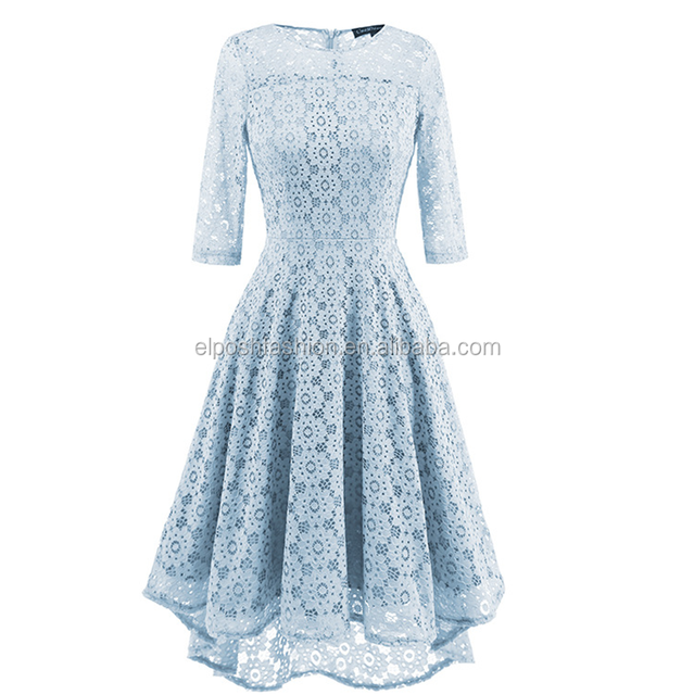 Wholesale Fashionable Women Long Sleeve Lace Bridesmaid Dress