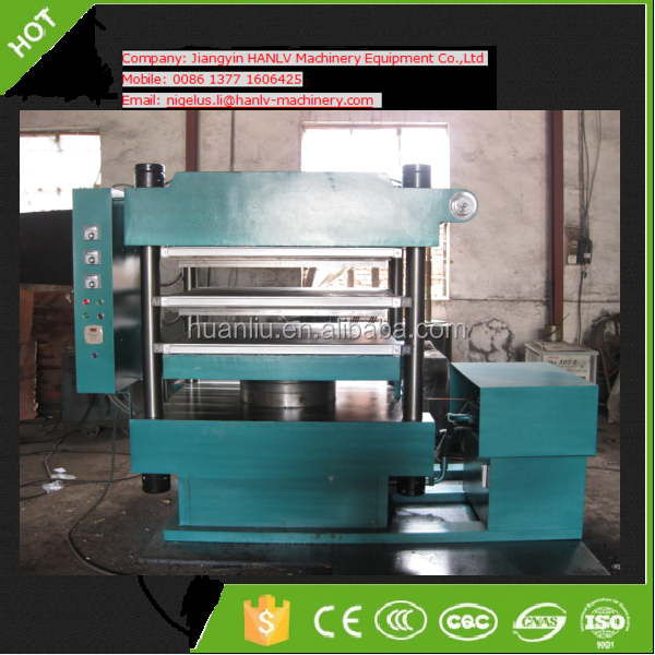 rubber paver tile vulcanizing press/ interlock rubber tiles hydraulic press/rubber floor hot molding press