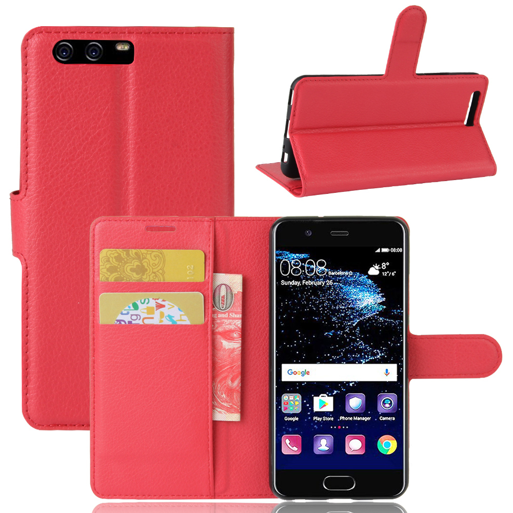For Huawei P10 <strong>P</strong> <strong>10</strong> Cellphone Wallet Case Bag Silicone Case Protection Luxury Phone Case For Hauwei P10 Litchi Leather Product