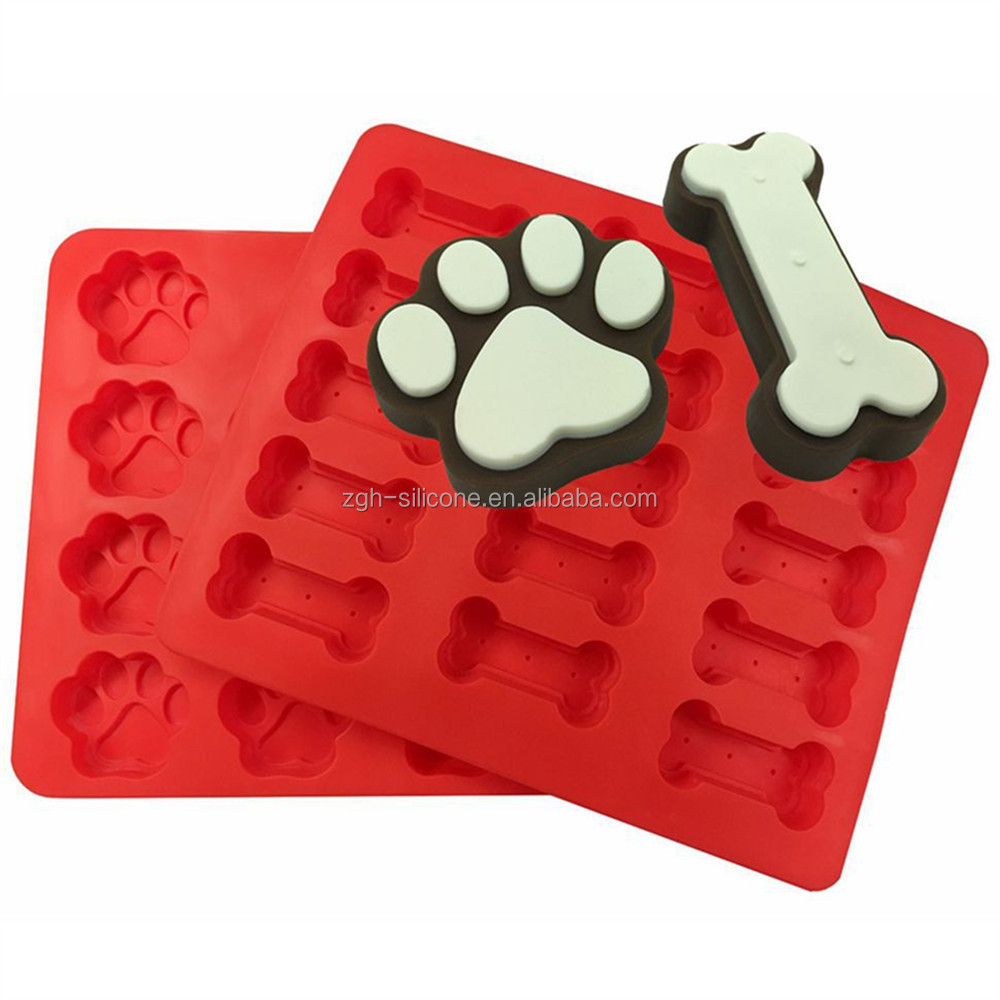 Dog Bones Shape Silicone Mold Cake Decoration Cake 3D Mold Food Grade