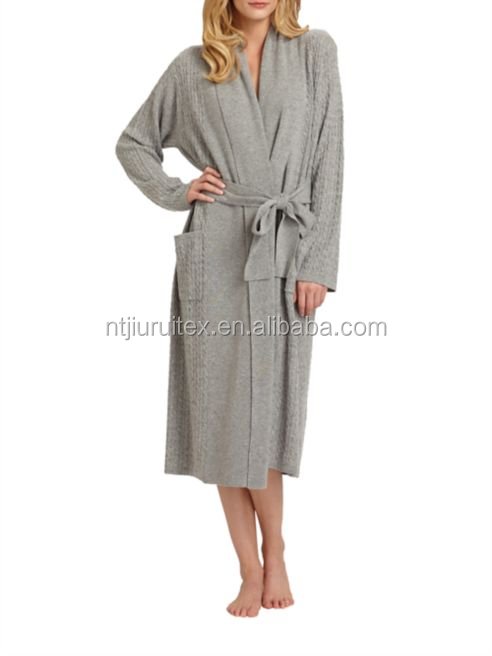 Cabled Cashmere Robe