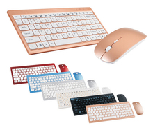 colorful 2.4Ghz wireless mouse and keyboard combo