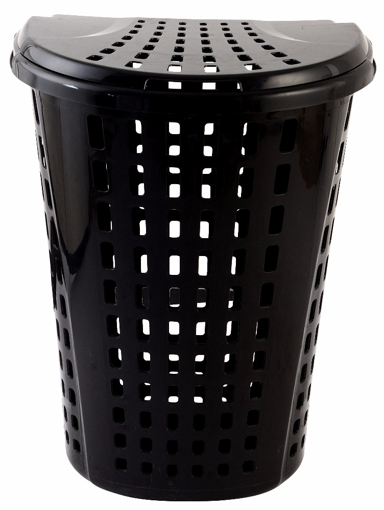 Best Sales High Quality Stocked Black And White Plastic Laundry Basket