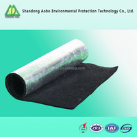 customized 2mm-8mm non-woven activated carbon Fire resistant fiber felt