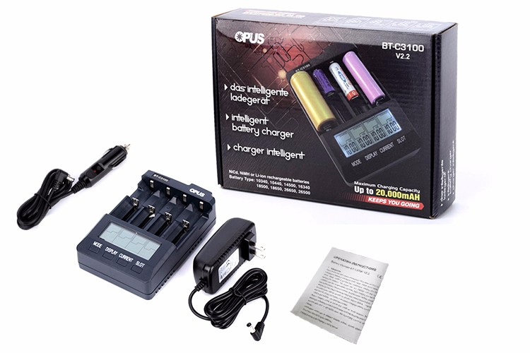 Good price of smart battery charger with back light