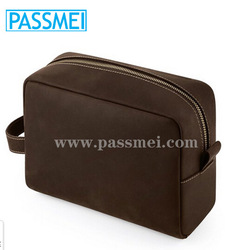 men high quality genuine leather clutch bags men large dopp kit leather travel organizer