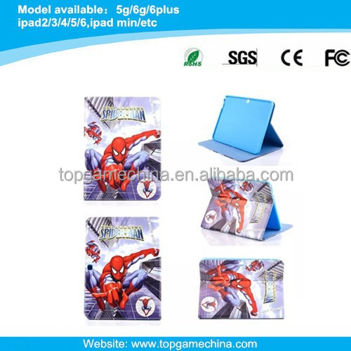 Wholesale spider man series leather case for Samsung galaxy Tab 4 10.1 T530