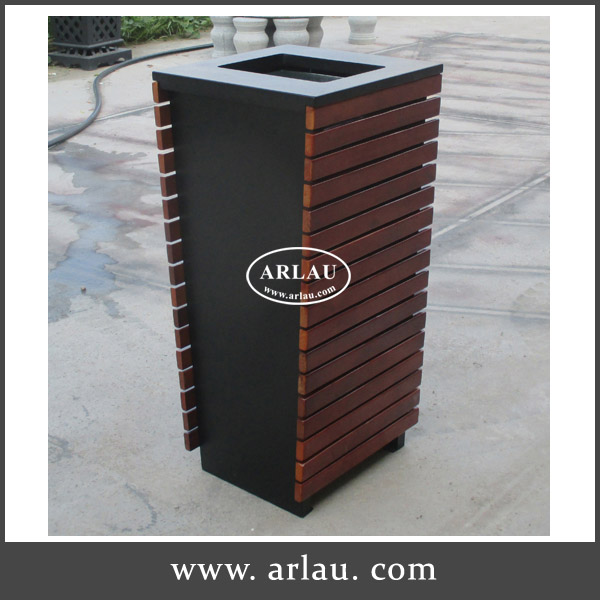 Arlau Outdoor Park wooden rubbish bin