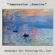 Professional Artist Reproduction Claude Monet Impression Landscape Sunrise Oil Painting On Canvas For Living Room Decoration