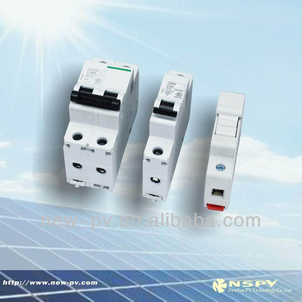 Highe quality Solar dc isolator switch new products solar air circuit breaker/24V power circuit breaker