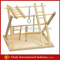 Eco-friendly Wooden Birds Toys With Stair And Swing On Hot Sale Pet Toys