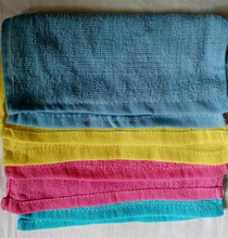 towels made in china cotton rainbow hand towel square towel 25*25 15g