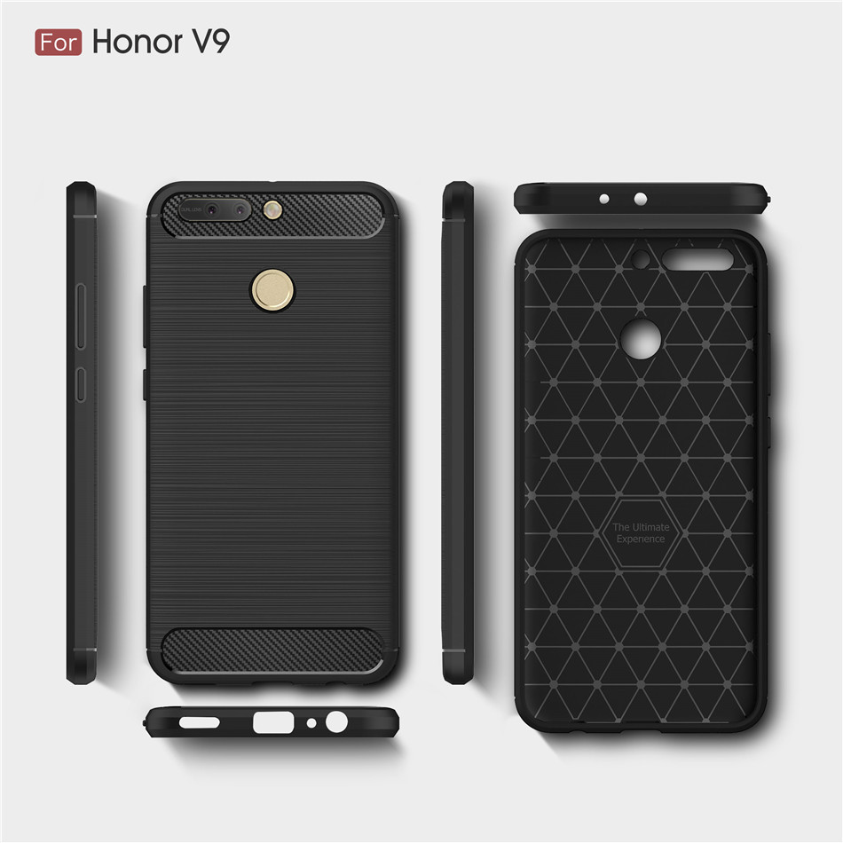 For Huawei Honor 8 Pro tpu case, back cover for Honor V9 carbon fiber case
