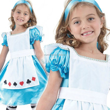 Girls Child Kids Alice In Wonderland Fancy Dress Costume Fairy Princess Outfit FC2385