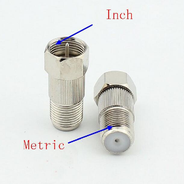 Cable adapter metric toimperial conversion f connector with n thread