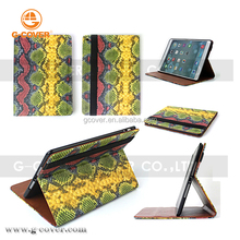 Wholesale high quality products in alibaba snake skin leather case for ipad air 2