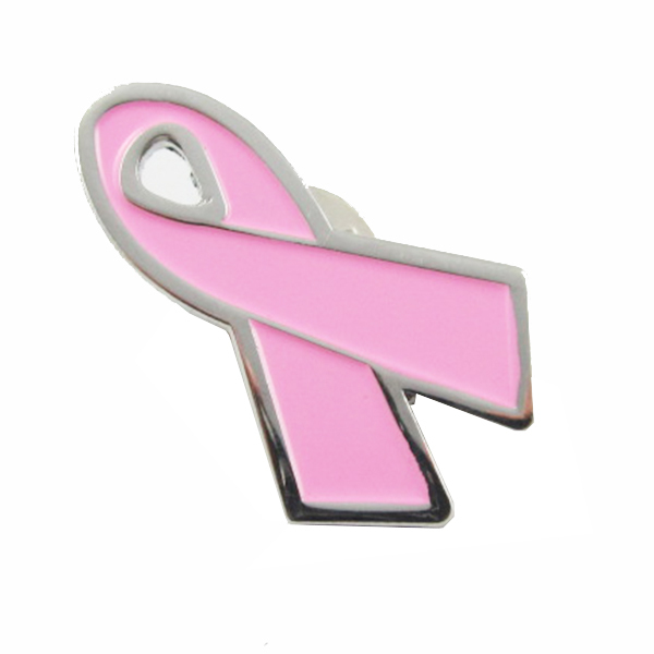 custom metal cancer pins wholesale pink ribbon breast cancer breast cancer logo