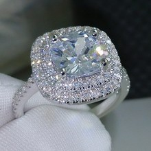 ew products design! three stones wedding engagement CZ diamond 925 sterling silver rings OSSR001