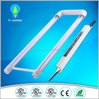 5 years warranty U shape led tube light 600mm milk white 18w internal driver/ External driver options