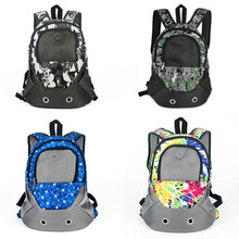 Pet Carrier Shoulders Back Front Pack Dog Cat Travel Bag Mesh Backpack