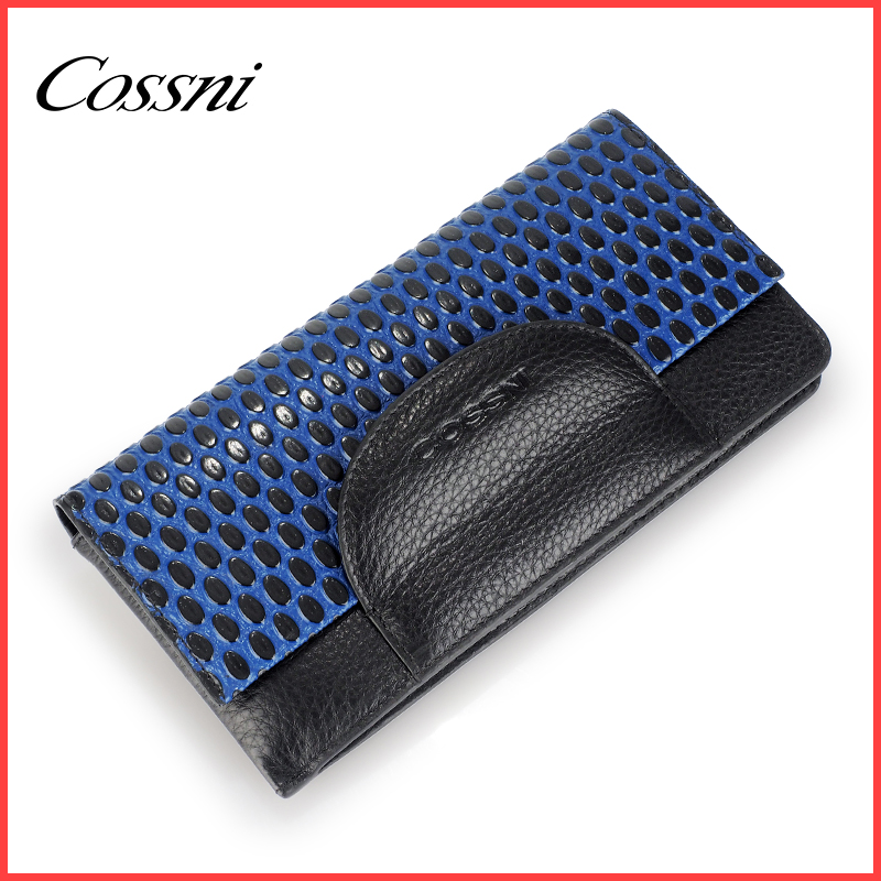 Latest design Leather purse for ladies multi card slot holder wallet bifold long women purse
