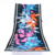 New printed polyester front cotton back beach towel custom