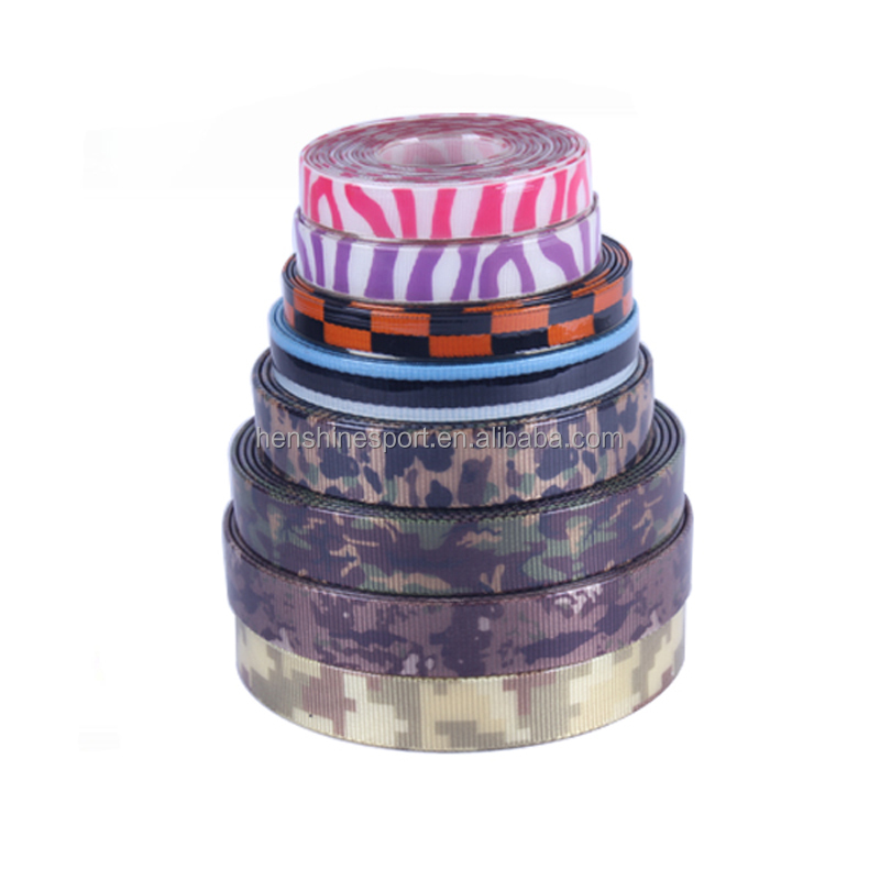 Factory produce camouflage nylon webbing to make dog collars