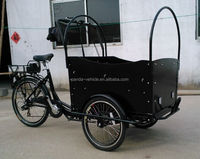 Europe 3 Wheel denish bakfiets/ family Electric Cargo Bikes for children/cargo trike