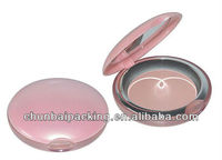 empty loose powder puff container with mirror high quality