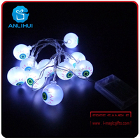 Halloween eye ball shaped decorative led string fairy lights