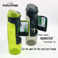 bpa free sports storage water bag, eco joyshaker water container, shaker cup with storage