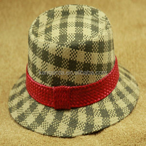 decorating straw bucket hats/hts for women