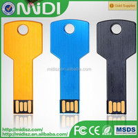 Cheapest promotional metal key style usb memory drive color print logo usb stick cheap 8gb 16gb flash drive